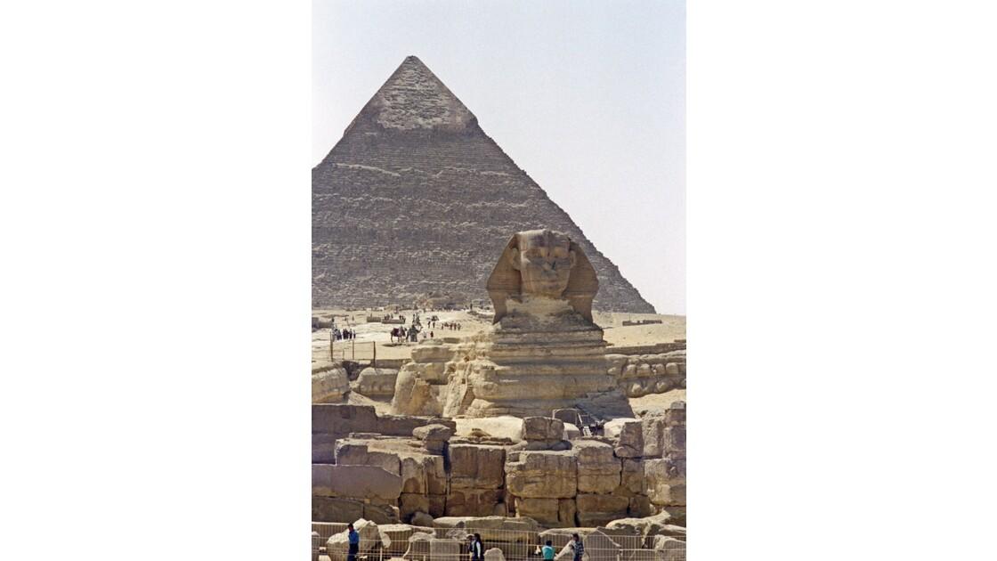 Gizeh Pyramide de Khéphren et le Sphinx