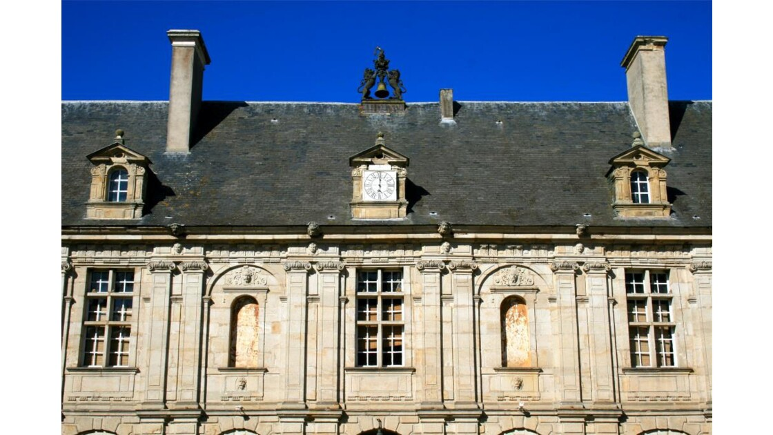 Sully; cour intérieure (façade Ouest)
