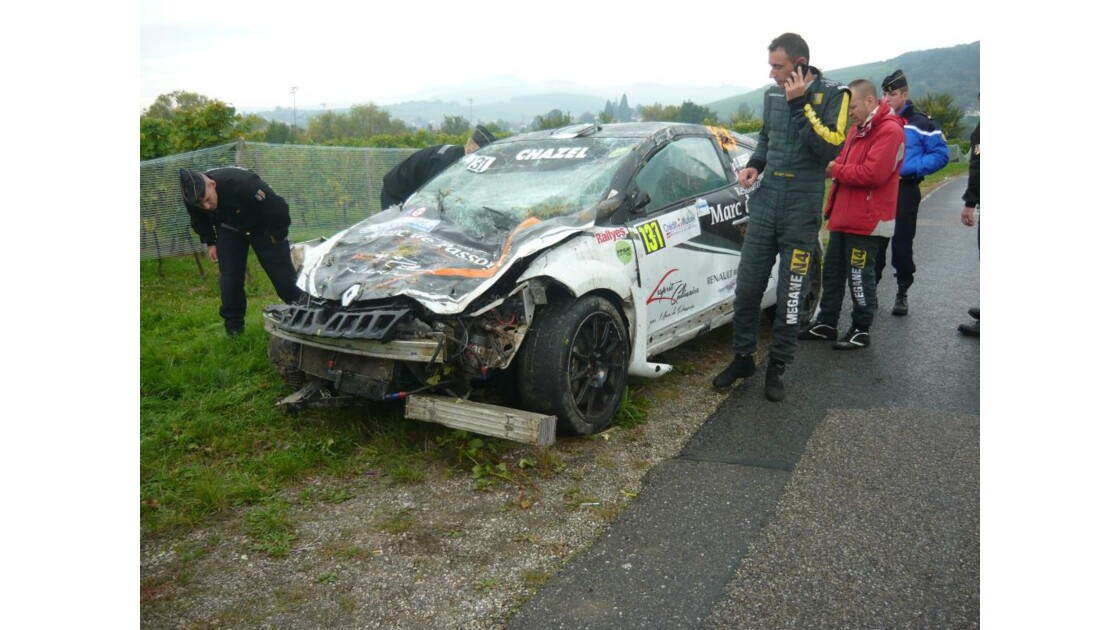 mégane RS accidenté