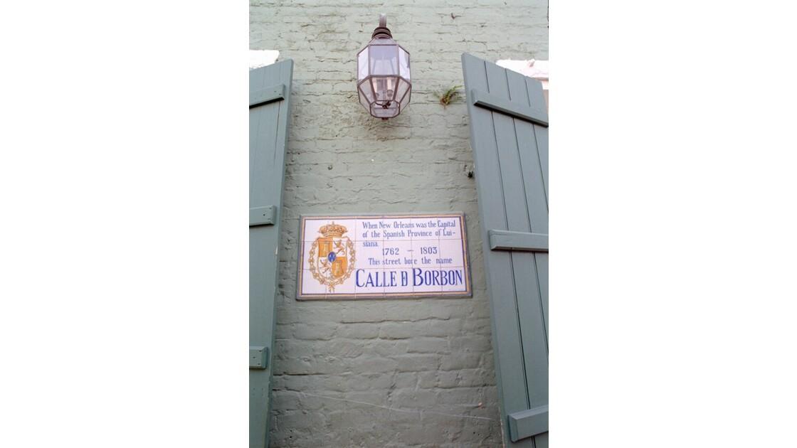 New Orleans Mosaïque sur Bourbon Street