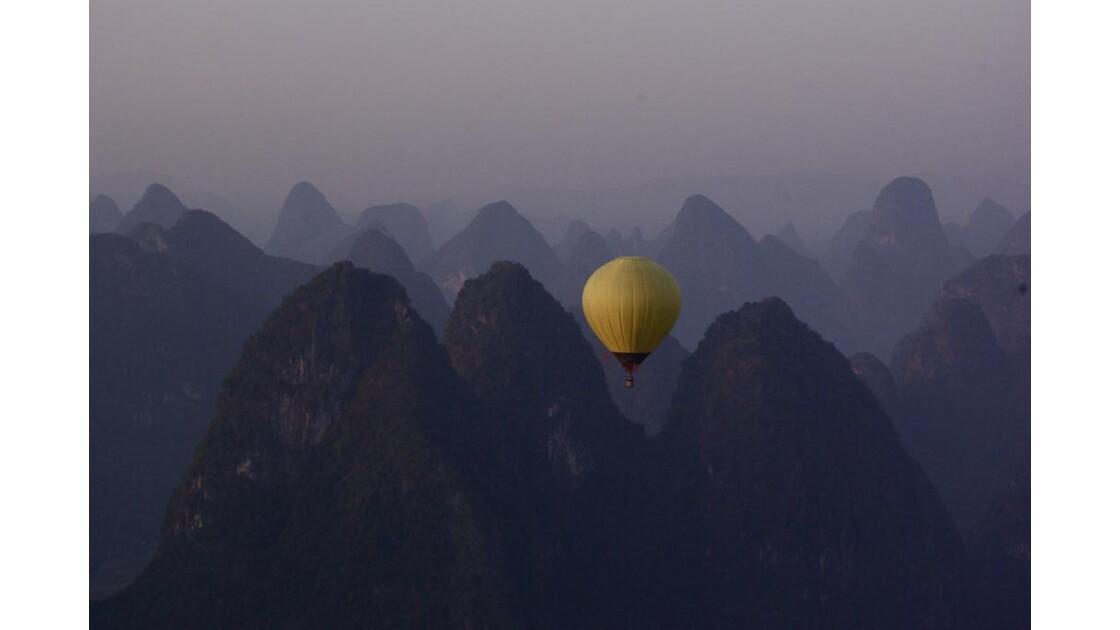 Yangshuo - Vue du ciel
