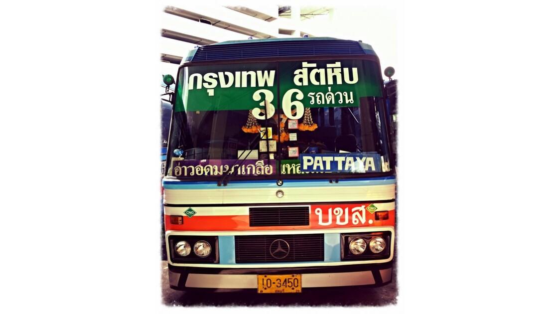 on the bus to Ko Samet