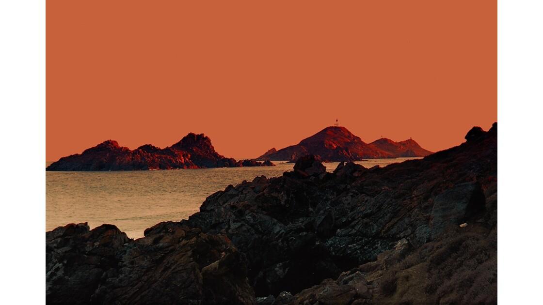 Les îles Sanguinaires.