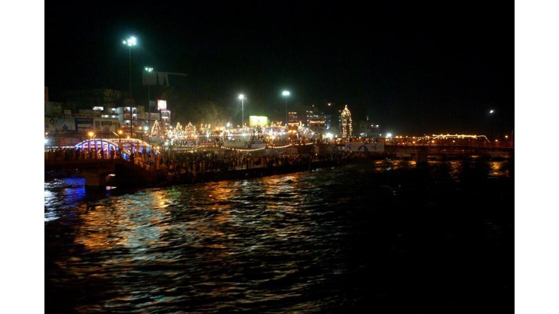 La nuit à Haridwar