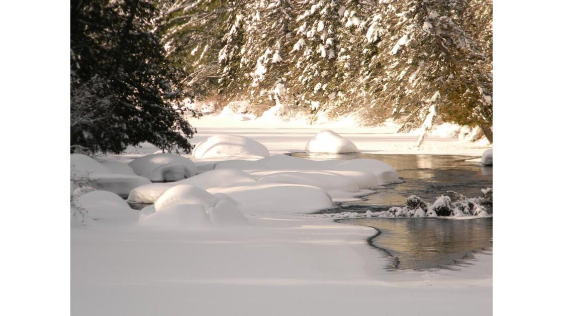 riviere a Simon, l'hiver
