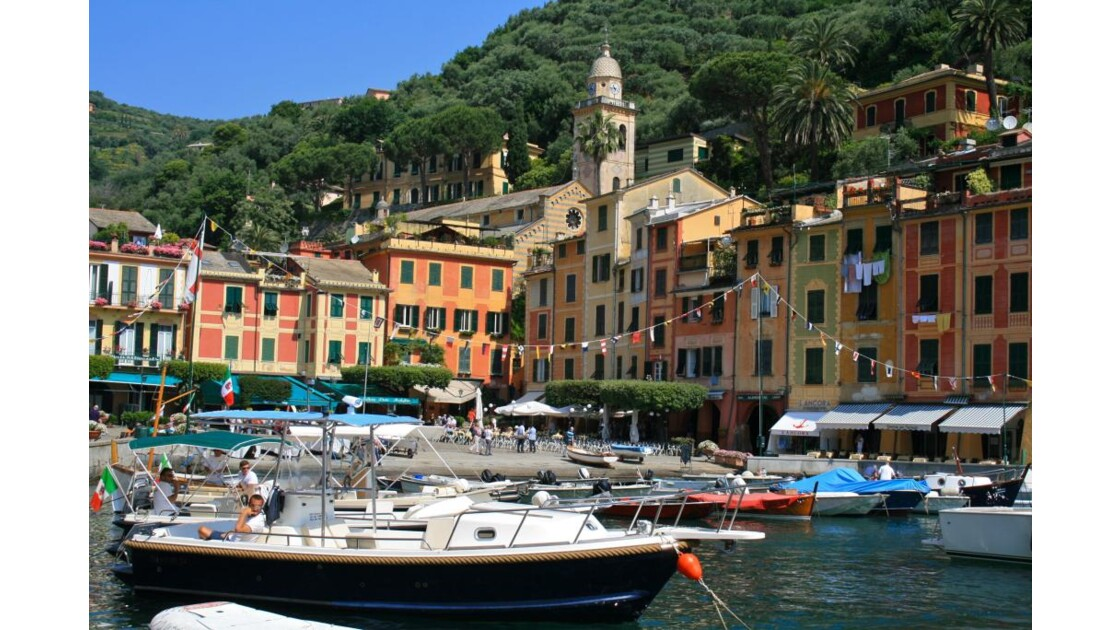 Portofino: Vue générale du port