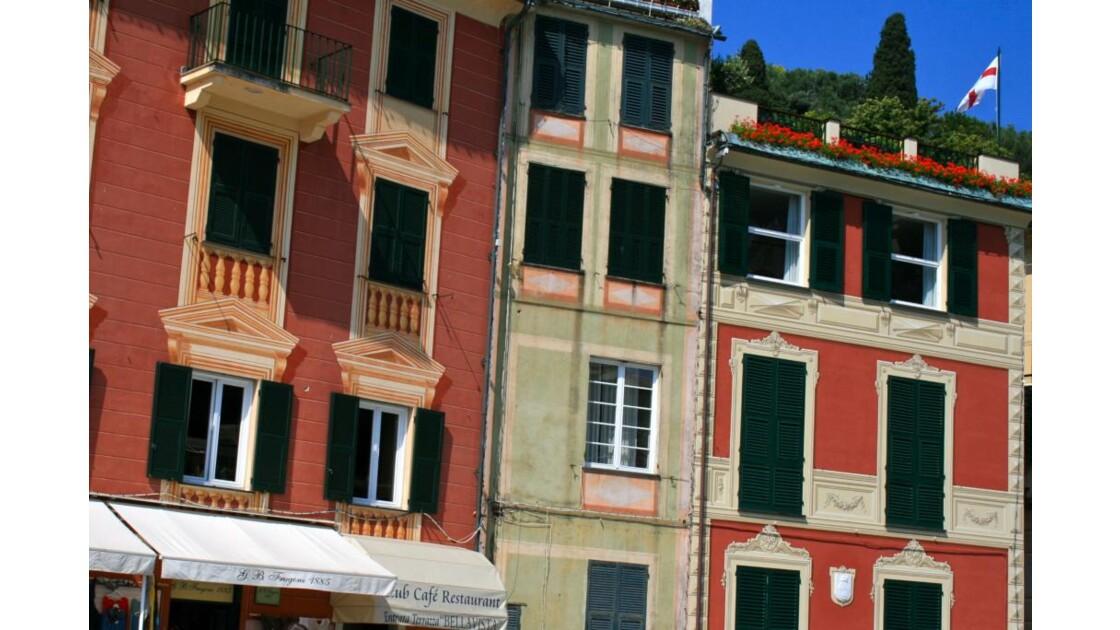 Portofino: maisons du port
