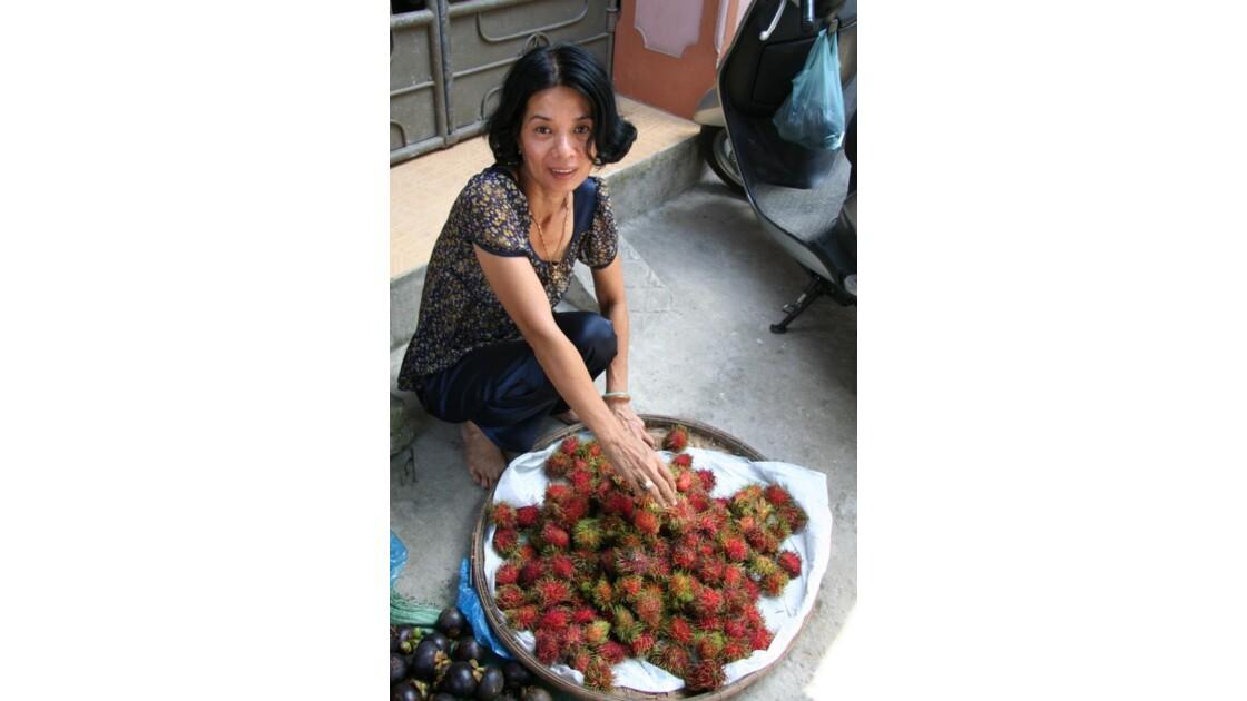 femme au marché