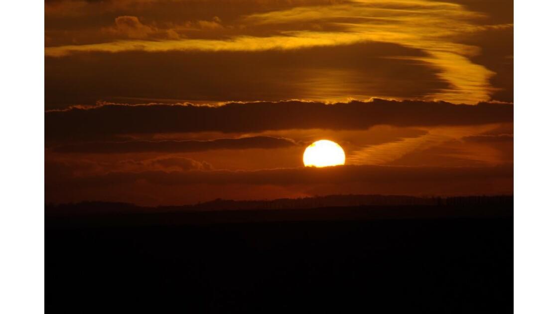 Coucher de soleil dans Oise