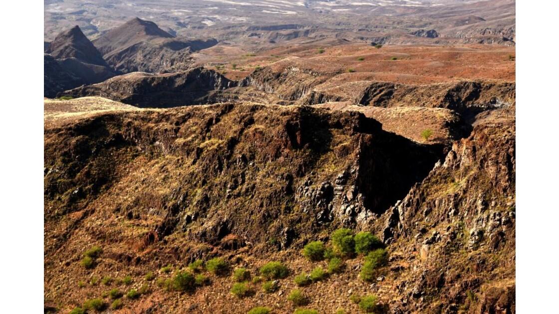 volcan et desert