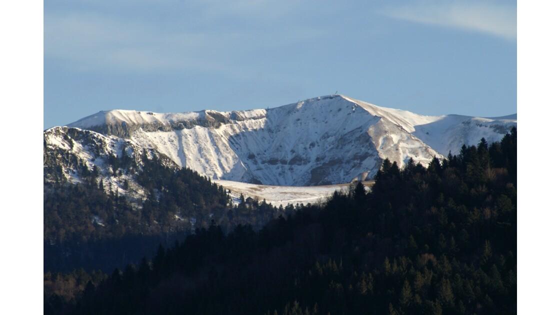 la montagne de neige