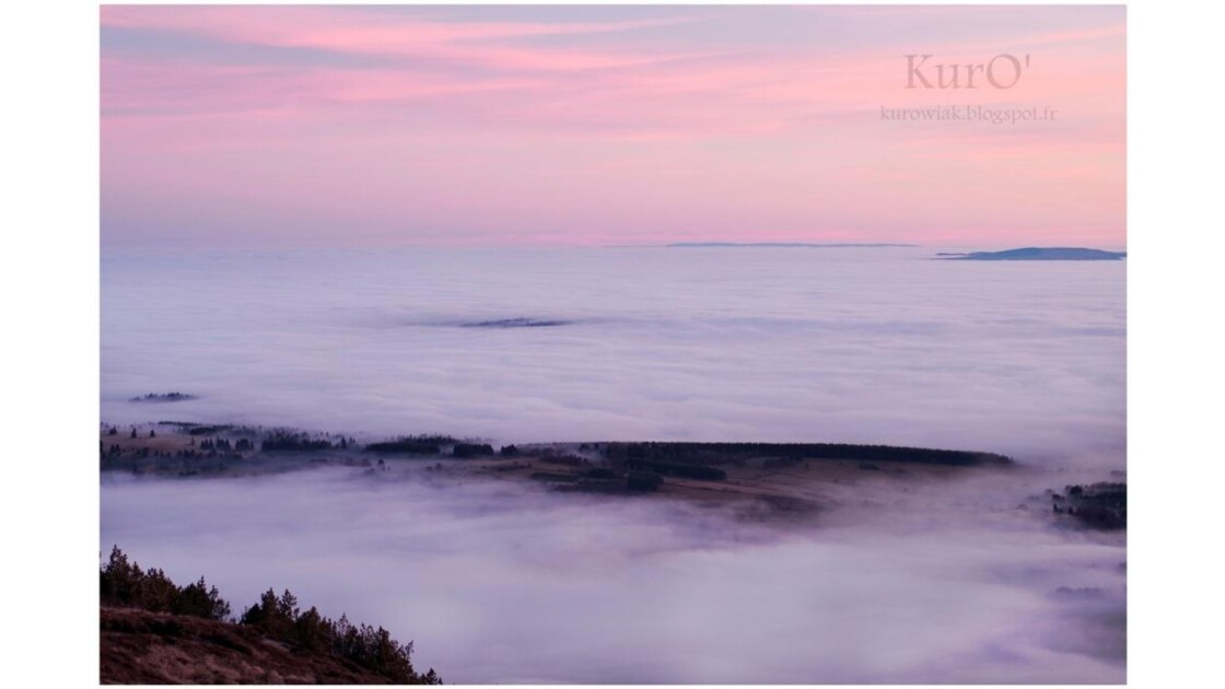 mer de nuages en Auvergne