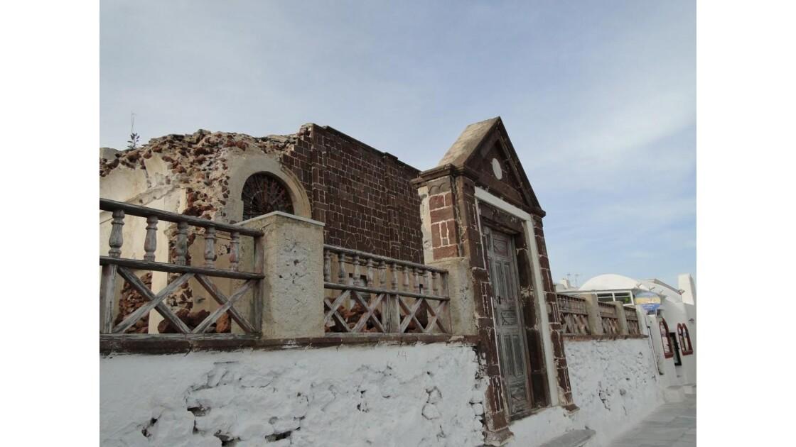 restes d'une ancienne maison