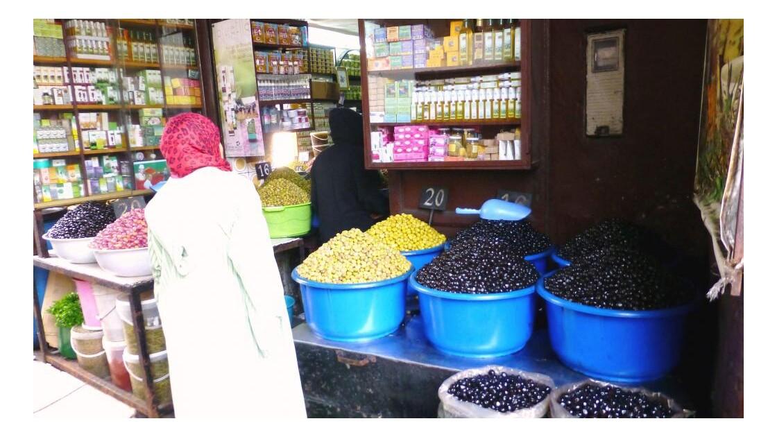 au marché d'olives