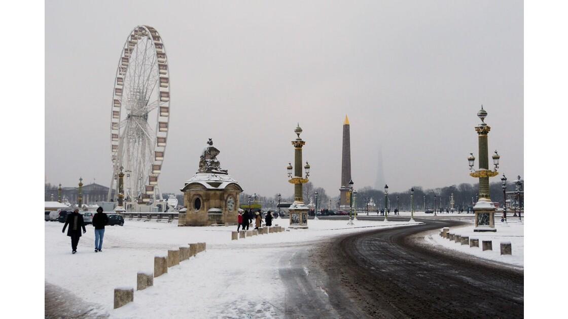 Place de la Concorde enneigée