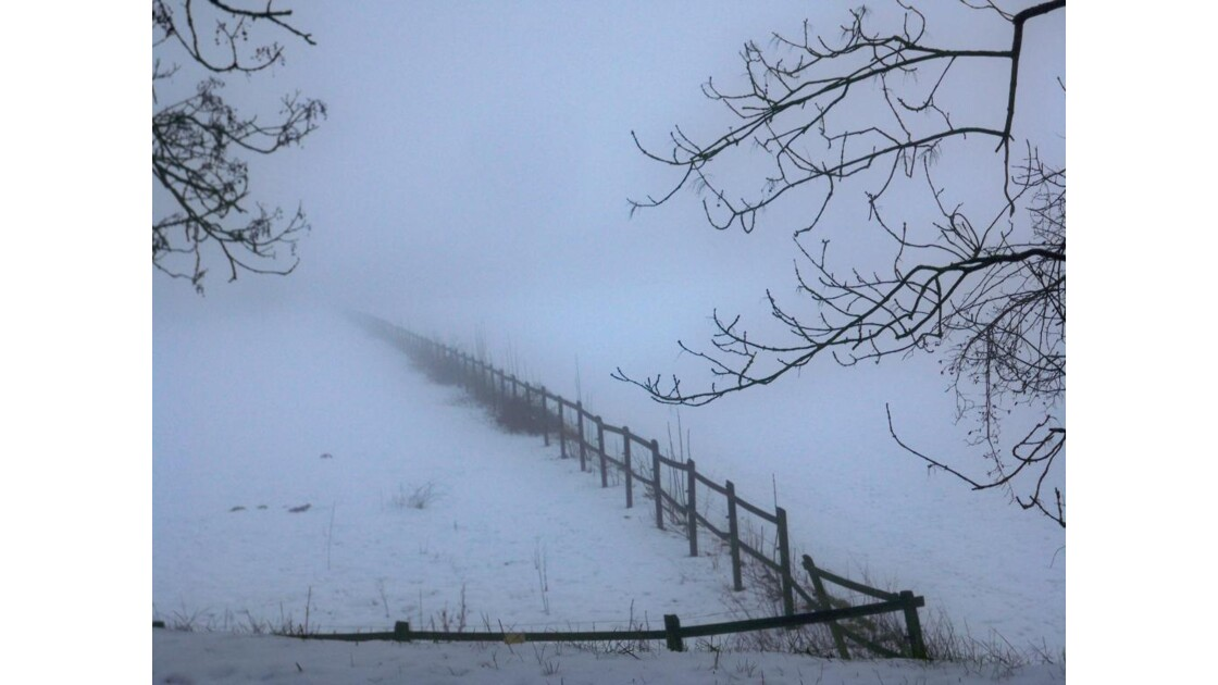 Neige et brouillard à Limours