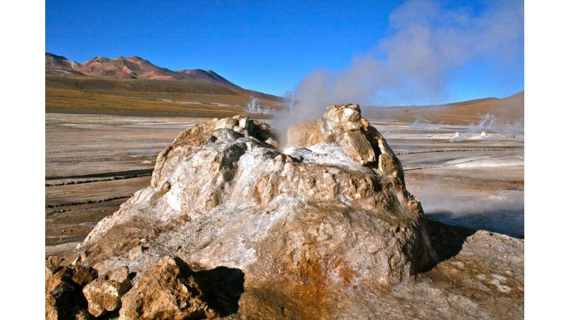 Cratère après éruption