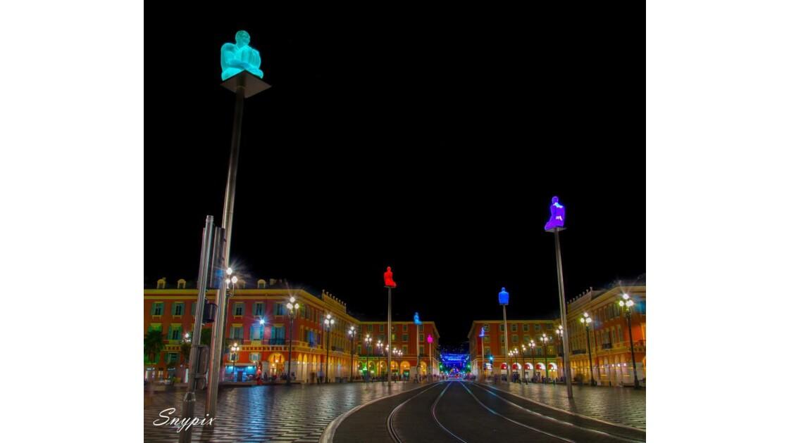 Place Massena by night