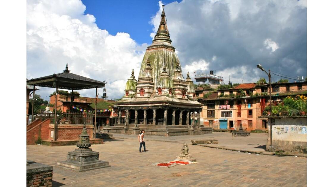 Bungamati: place centrale du village