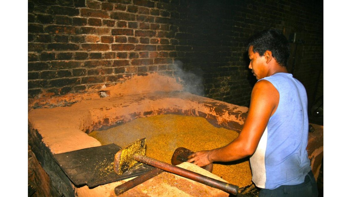 Khokhana:Fabrication d'huile de moutarde