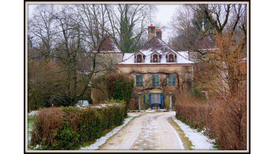 Belle demeure en hiver