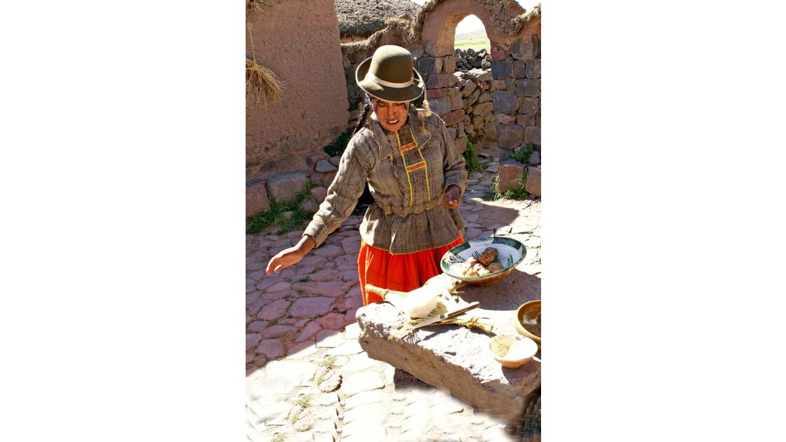 Sillustani  Femme Quechua