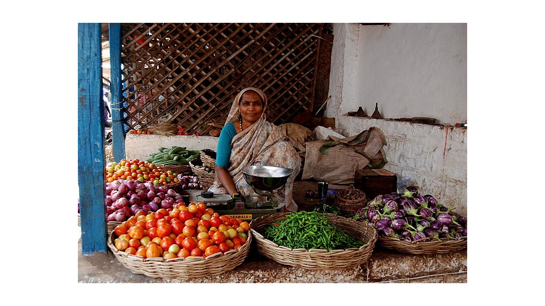 la vendeuse de fruits et légumes de Bad