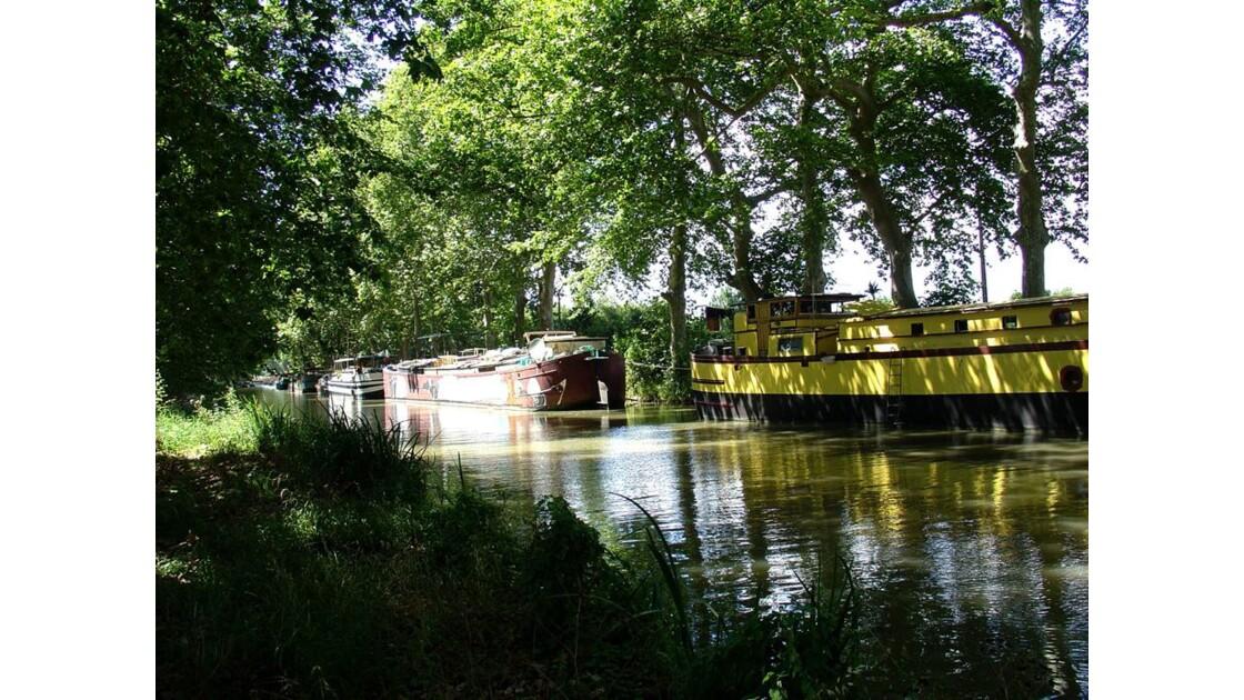 Le Canal du Midi à Portiragnes