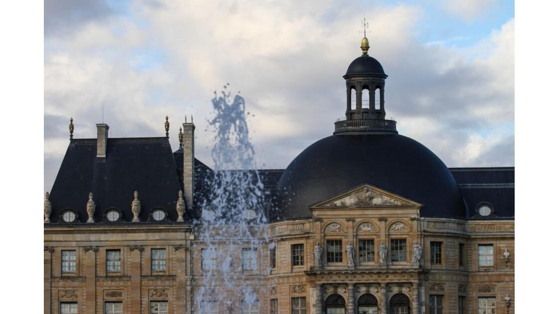 de l'eau sur le château.....