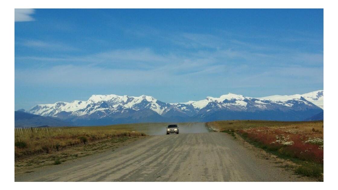 route vers le lac Roca
