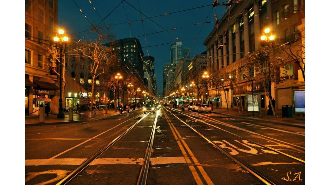 Market street by night