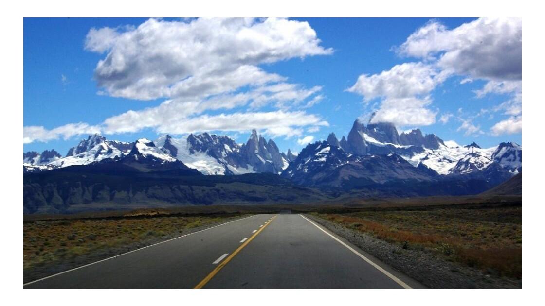 Route de El Calafate à El Chalten