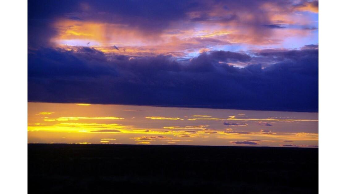 Coucher de soleil patagonien