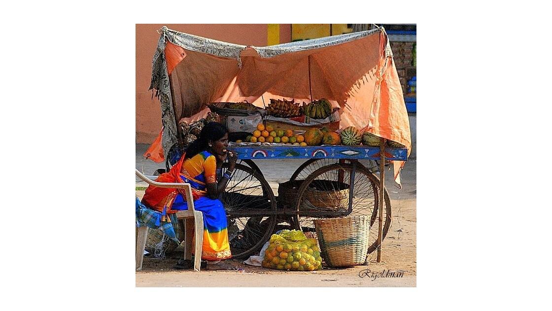 La vendeuse de fruits d'Hampi