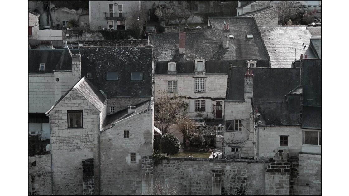 Du haut du château Village de Montsoreau