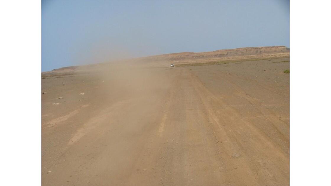 poussière du désert