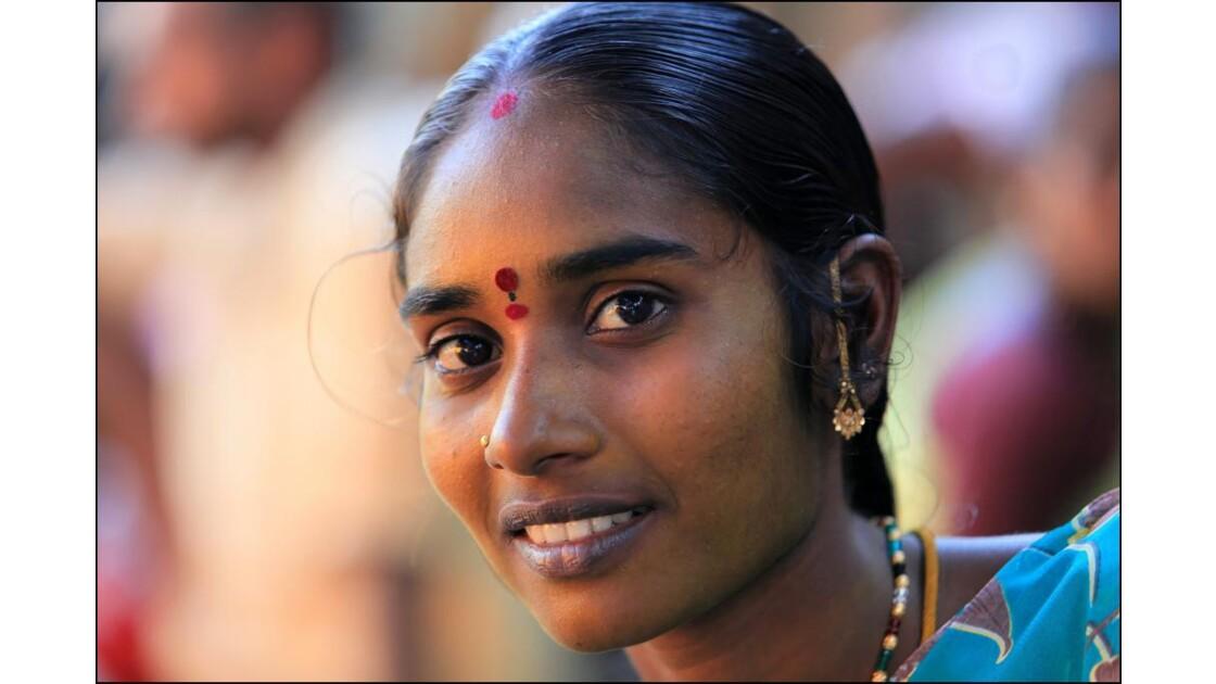 Inde du sud: sourire de Pondichéry.
