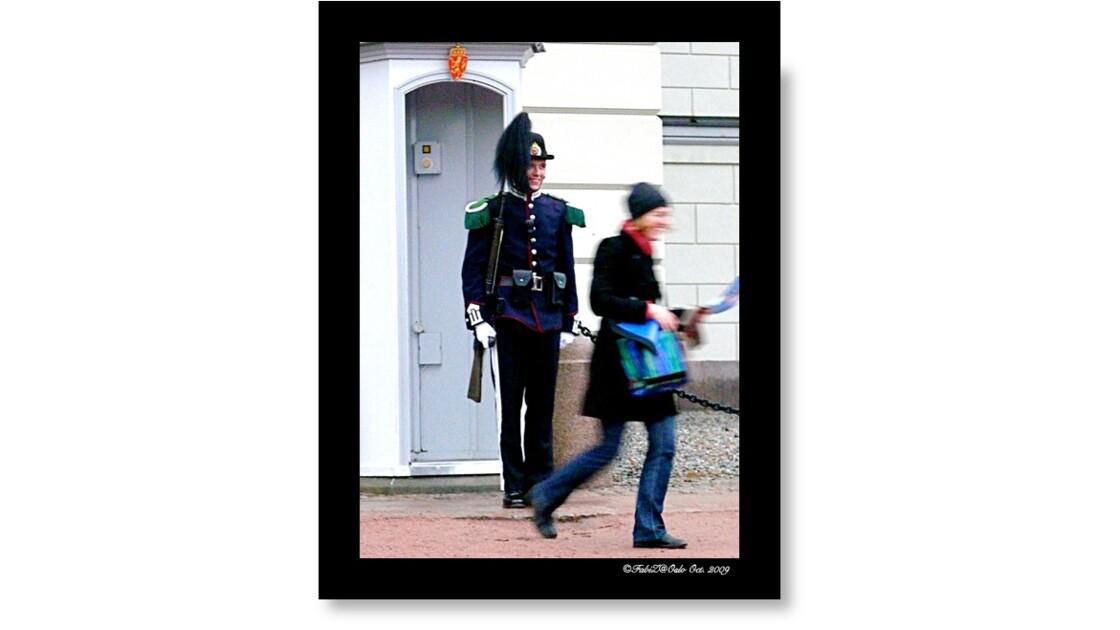Oslo Royal Guard & Lost Tourist...