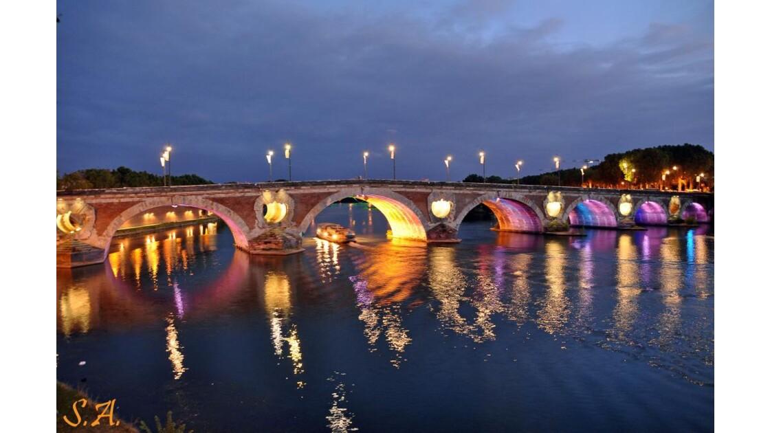 Le pont Neuf illuminé