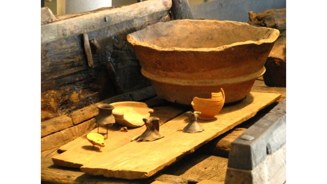 Chaland du Rhône: cuisine du bord