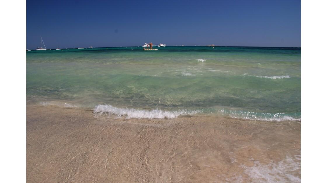 plage des Salins à Saint Tropez