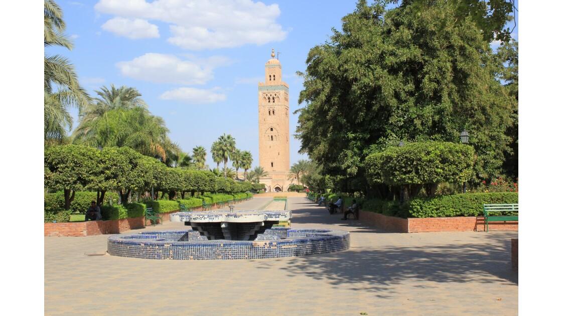 Marrakech: la Koutoubia domine toute la vieille ville et sert un peu de phare
