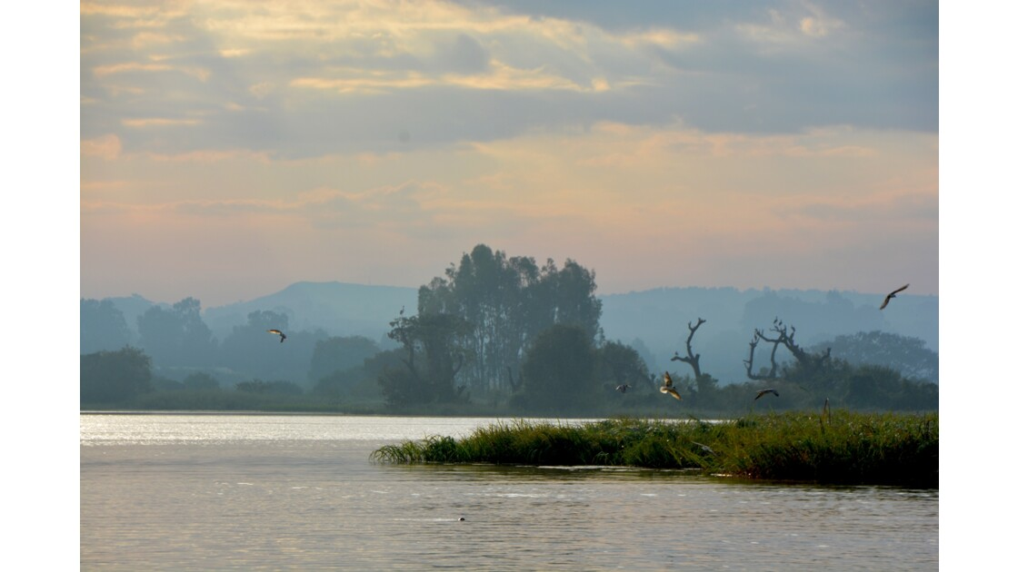 lever de soleil sur le lac tana