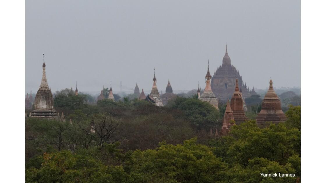 Crépuscule à Bagan