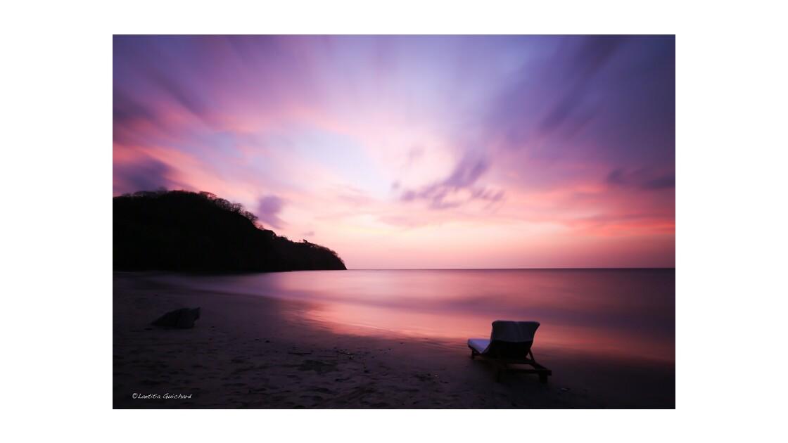 sunset on the beach of Costa Rica