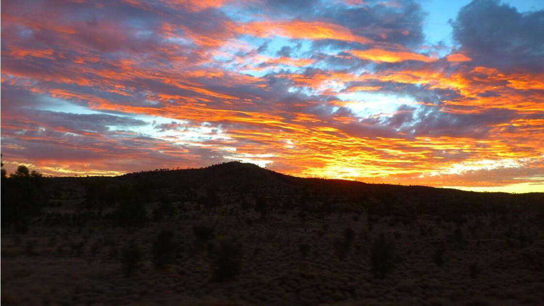 Coucher de soleil Désert Australien