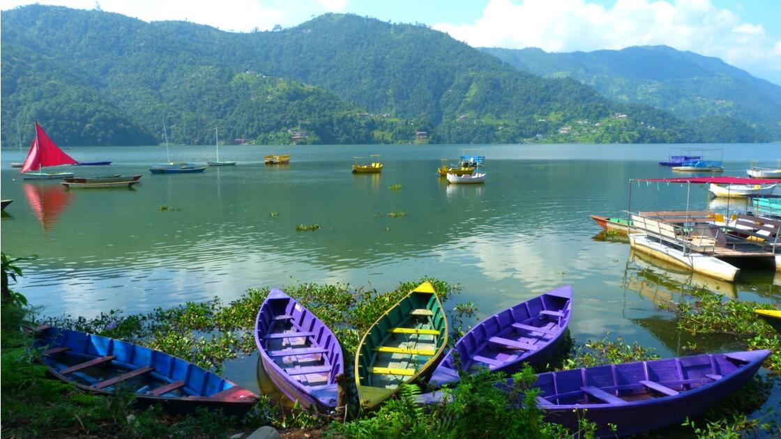 barques, lac Pokhara