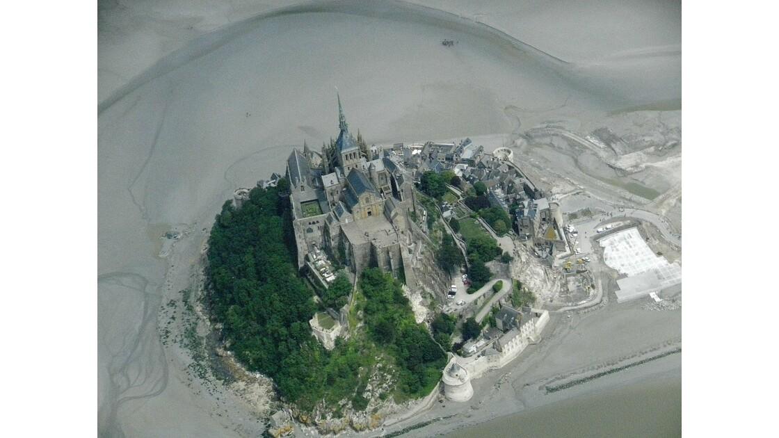 Normandie vue du ciel autour du Mont Saint Michel
