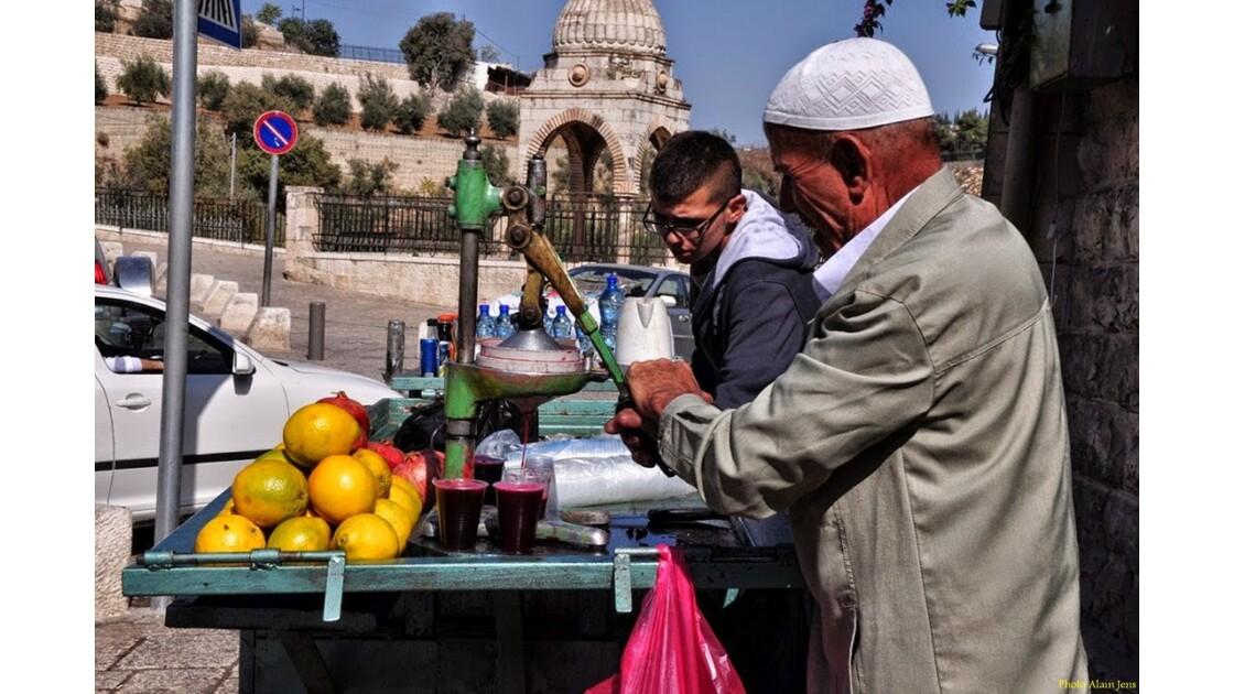 Jérusalem - Marchand de jus de fruits