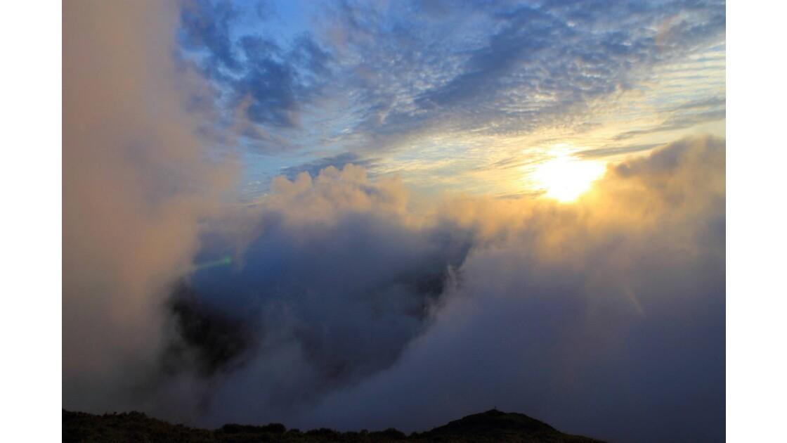 Coucher de soleil dans les Monts du Cantal